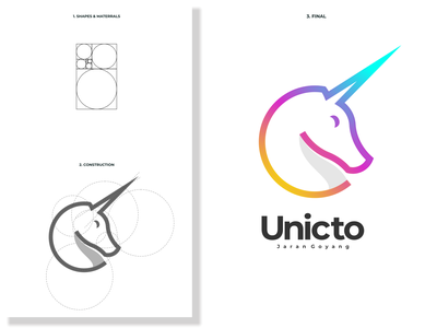 unicto logo lettering logo design logodesign minimal vector corporate branding design logo illustration branding