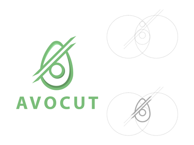 avocut logo lettering logo design minimal logodesign vector corporate branding design logo illustration branding