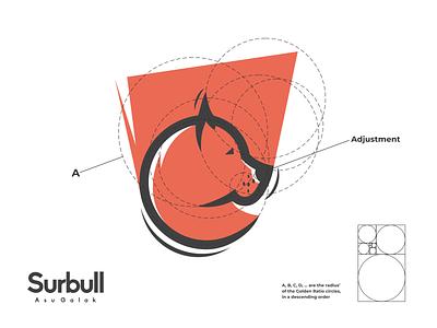 surbull logo brand design lettering logo design minimal logodesign vector corporate branding design logo illustration branding