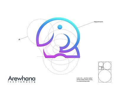 Arewhana Logo typography ux ui logodesign vector corporate branding design logo illustration branding