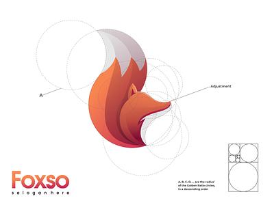 foxso logo typography ux ui logodesign vector corporate branding design logo illustration branding