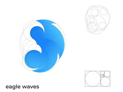 eagle waves ui typography ux logodesign vector corporate branding design logo illustration branding