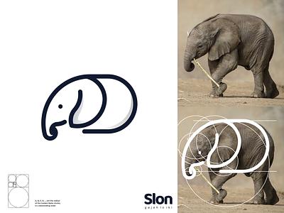 slon logo typography ux ui logodesign vector corporate branding design logo illustration branding