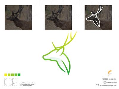 Leaf Deer Logo deer animals color modern clean minimalist minimal simple typography logodesign vector corporate branding design logo illustration branding