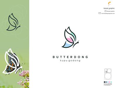 butterdong logo typography ux ui logodesign vector corporate branding design logo illustration branding