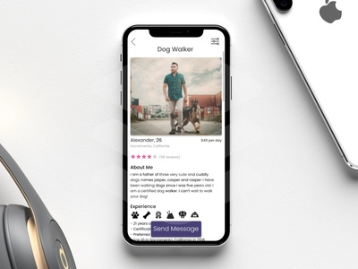 Daily UI Challenge: Day 6 Profile Concept