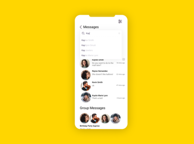 Daily UI Challenge: Day 13 Direct Messaging