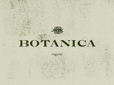 Botanica green botanical typography type design