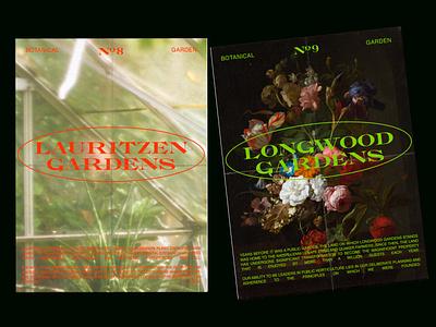 the botanicals orange green haze vintage posters gardens botanical design
