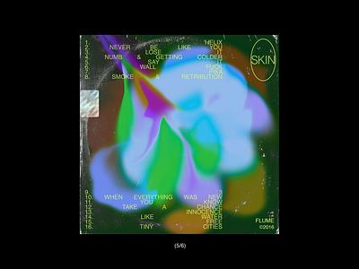 skin//flume cover art blue typogaphy skin green music graphicdesign flume cover album art illustration design