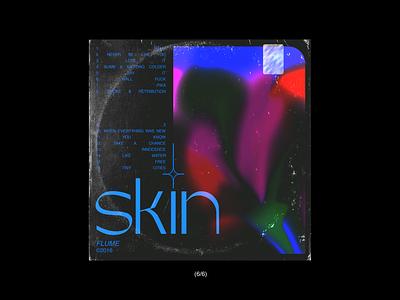 skin//flume cover art flower blue pink typogaphy skin music graphicdesign flume cover album art illustration design