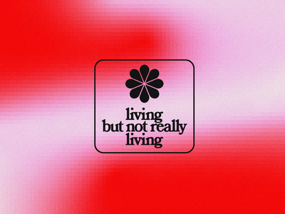 me rn bored covid19 vector typogaphy illustration square black gradient retro living pink flower red graphicdesign design