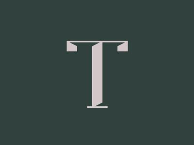 a sexy T serif design typography