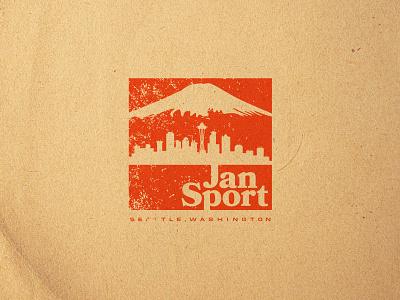 Fun Jansport Rebrand icon lettering artist lettering branding minimal logo illustration graphicdesign graphic design