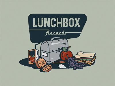 Lunchbox Records icon lettering artist lettering branding minimal logo illustration graphicdesign graphic design