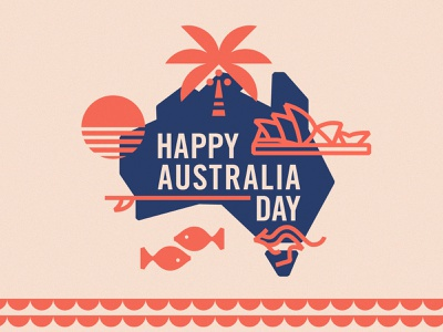 Australia Day icon lettering artist lettering branding logo illustration graphicdesign graphic design minimal