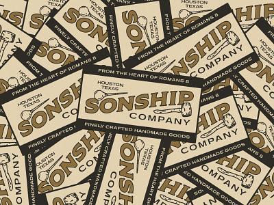 Sonship Co. icon lettering artist lettering branding minimal logo illustration graphicdesign graphic design