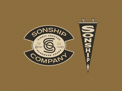 Sonship Co. Badge and Penant icon lettering artist lettering branding minimal logo illustration graphicdesign graphic design