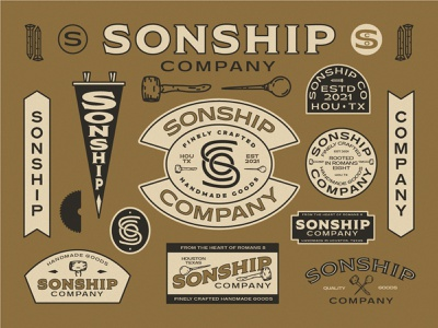 Sonship Co. Branding icon lettering artist lettering branding minimal logo illustration graphicdesign graphic design
