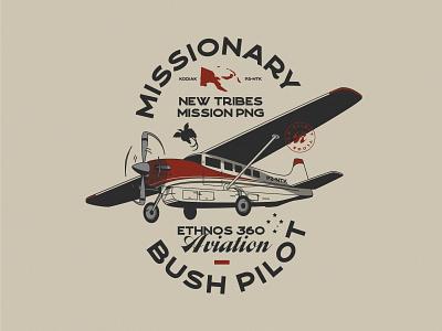 Missionary Bush Pilot Badge icon lettering artist lettering branding minimal logo illustration graphicdesign graphic design