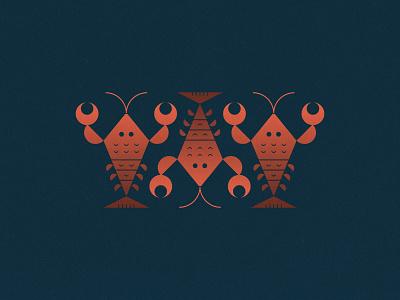 3 Lobsters icon lettering artist lettering branding minimal logo illustration graphicdesign graphic design