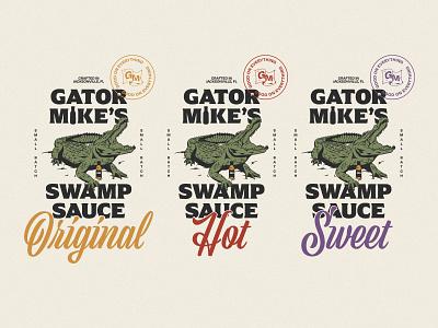 Gator Mike's Sauces icon lettering artist lettering branding minimal logo illustration graphicdesign graphic design