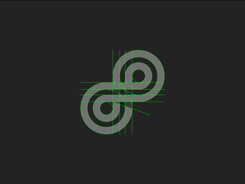 Infinity Grid abstract branding design grid form gridded identity logo mark system