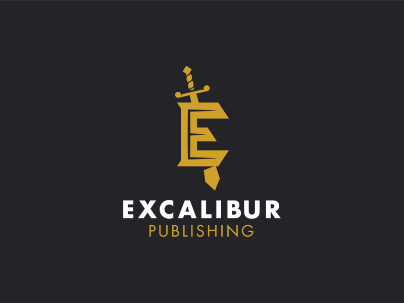 Excalibur identity mighty shadow excalibur sword form branding mark design logo