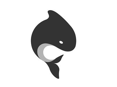 Whale Illustration minimal logo black and white ocean design illustrator whale