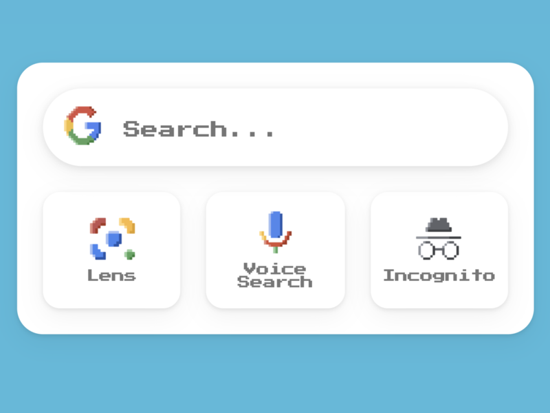 Pixel Google Widget css grid ui design css widget google logo ui