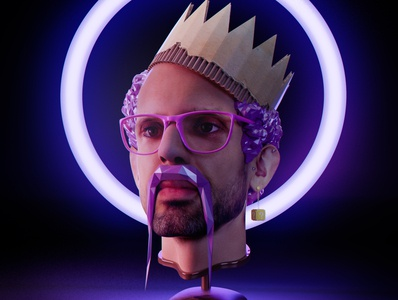 Some kind of a self portrait face human illustration art cardboard colorful portrait illustration selfie self-portrait self portrait portrait render low poly lowpoly illustration 3d