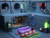 TMNT's lair Low Poly 3D