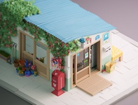 Korean Shop Low Poly 3D