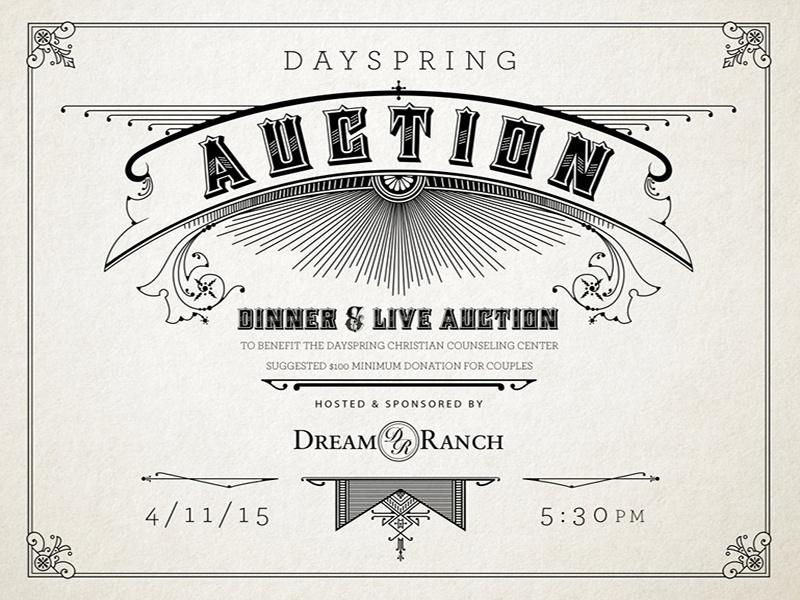 2015 dayspring auction invitation by ric moseley dribbble