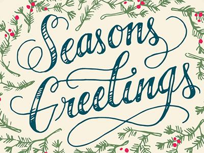 Christmas Card Sketch christmas stationary lettering seasons greetings