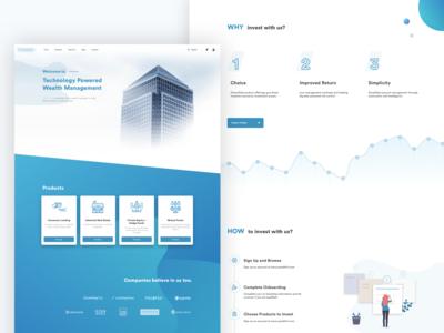 Investment Platform Website Homepage