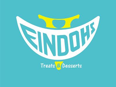 Findohs Typography Design ice cream dessert design corporate branding typography logo