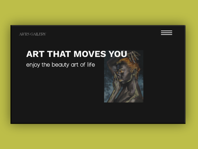 Art Gallery Concept graphic design website design web design website web ux  ui ux design ui design ui design