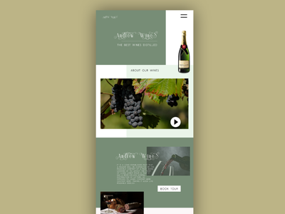 Winery Design Concpet theme website concept graphic design website design web design website web ux  ui ux design ui design ui design