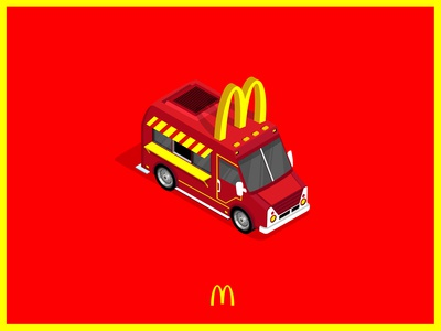 McDonald's food truck illustration