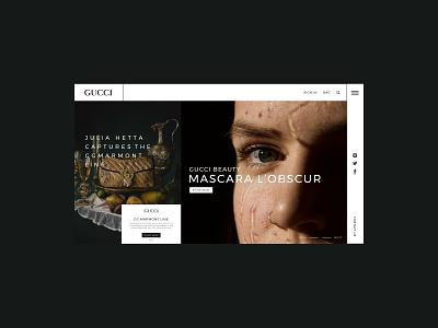 Gucci homepage design ux design webdesign typogaphy homepagedesign ux ui