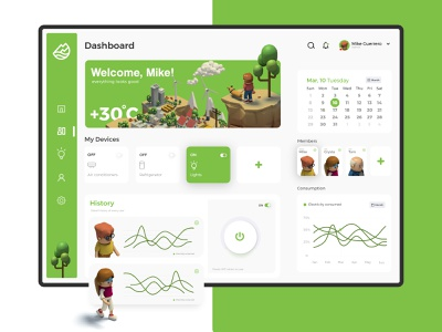 Smart home Dashboard - Project terra dribble shot website design uxdesign dashboard template dashboard app dashboard ui web typogaphy 3d ui