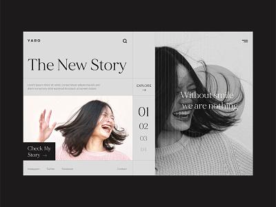 Yaro Homepage Design website design web dribble shot ui typogaphy design