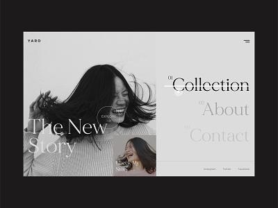 Yaro Menu Design website menu menu design webdesign web dribble shot ui typogaphy design
