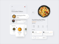 Restaurant Delivery App Favourite Dishes Screens