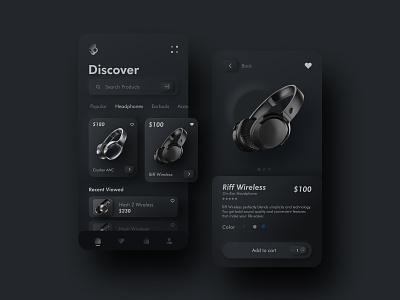 E- commerce Skullcandy mobile app | Skeumorph uidesign ux skullcandy skeumorphism skeuomorph app design ui design ui