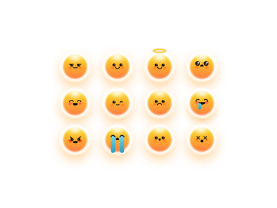 Emoji - Yolk inspired emoticons emoji set character design eggyolk symbol icon set expressions emoticons emoji character