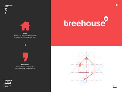 Treehouse | Branding branding design coliving brand design brand identity vector branding logo dribble shot typogaphy design ui