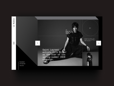 La Modèle | Magazine Website fashion website fashion website uiux magazine web magazine cover magazine web design typogaphy ui