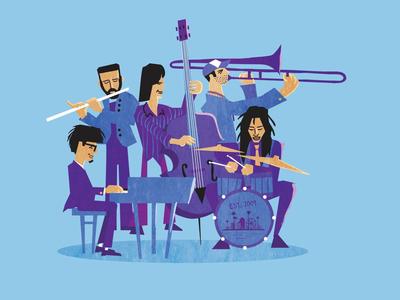 Illustration for a Jazz album